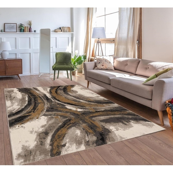 Luxe Weavers Lagos Collection 5570 Beige 2x3 Geometric Area Rug. Opens flyout.
