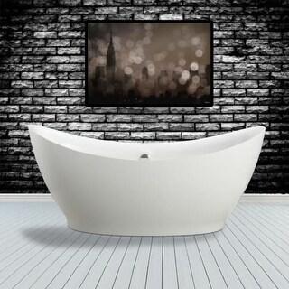 "Miseno MT6831FSO 68"" Freestanding Acrylic Soaking Tub with Center Drain, Drain A"