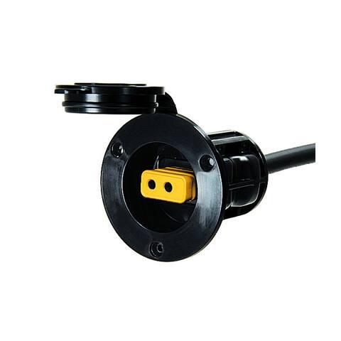 Cannon flush mount power port black