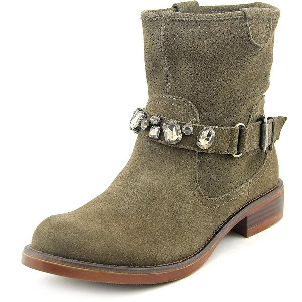 Kensie Squire Women Round Toe Suede Green Ankle Boot