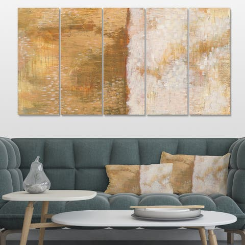 Designart 'Amber Modern Horizon' Abstract Gallery-wrapped Canvas