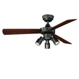 """Vaxcel Lighting F0020 Cyrus 42"""" 3 Blade Indoor Ceiling Fan - Light Kit and Blades Included"""