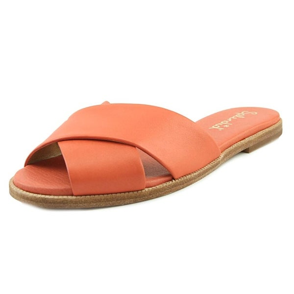 Splendid Baron Women Open Toe Leather Pink Slides Sandal