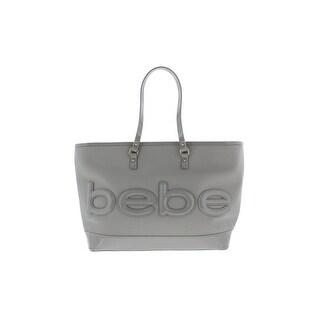 Bebe Womens Madison Tote Handbag Faux Leather Embossed - Large