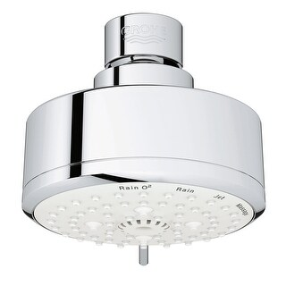 Grohe 26 043 1  Tempesta Cosmopolitan 1.75 GPM Multi Function Shower Head with DreamSpray, SpeedClean, and EcoJoy Technology