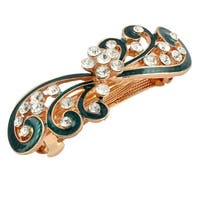 Ladies Metal Bowknot Design Hairstyle French Hair Clip Barrette Green
