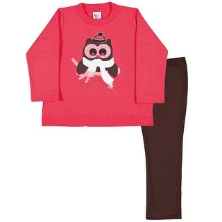 Toddler Girl Outfit Sweatshirt and Leggings Winter Set Pulla Bulla 1-3 Years