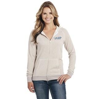 Cowgirl Up Western Jacket Womens Patriotic Zip Hoodie White CG1886