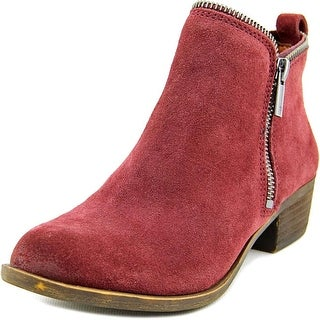 Lucky Brand Bartalino Women Round Toe Suede Ankle Boot