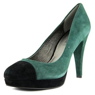 CafeNoir Veronica   Open Toe Leather  Platform Heel