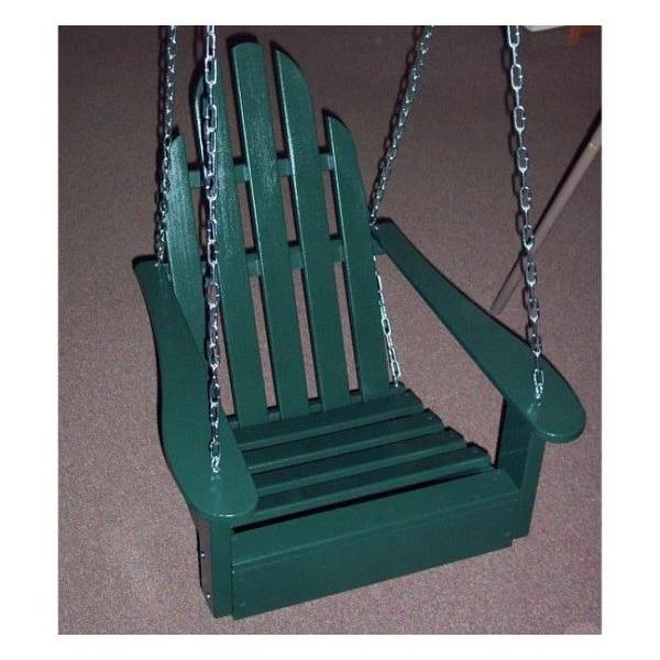 Prairie Leisure Deisign Adirondack Chair Swing Hunter Green