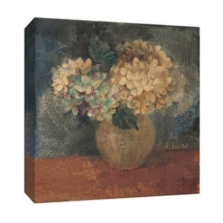 "PTM Images 9-152550  PTM Canvas Collection 12"" x 12"" - ""Hydrangea Study IV"" Giclee Hydrangeas Art Print on Canvas"