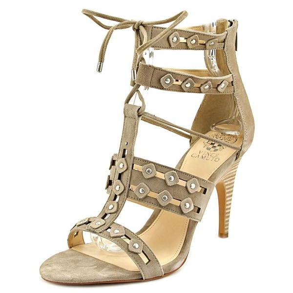 Vince Camuto Kazie Women Open Toe Suede Gray Sandals