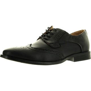 Coronado Mens Dress Shoe Milano-1 Classic Oxford Fashion Wing Tip Style Leather Lining