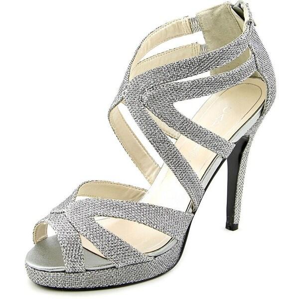 Caparros Priscilla Women Open Toe Synthetic Silver Sandals