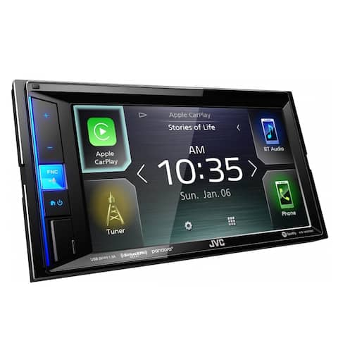 "JVC KW-M650BT 6.2"" Digital Media Receiver w/ Apple CarPlay and Bluetooth - Black"