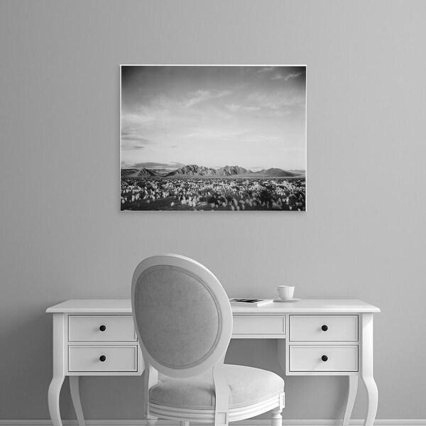Easy Art Prints Ansel Adams's 'Near Death Valley National Monument' Premium Canvas Art