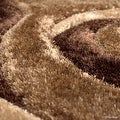 AllStar Rugs Coco Shaggy Area Rug with 3D Brown Spiral Design. Contemporary Formal Casual Hand Tufted (5' x 7') - Thumbnail 5
