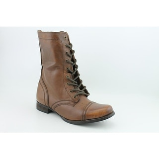 Steve Madden Troopa   Round Toe Leather  Mid Calf Boot