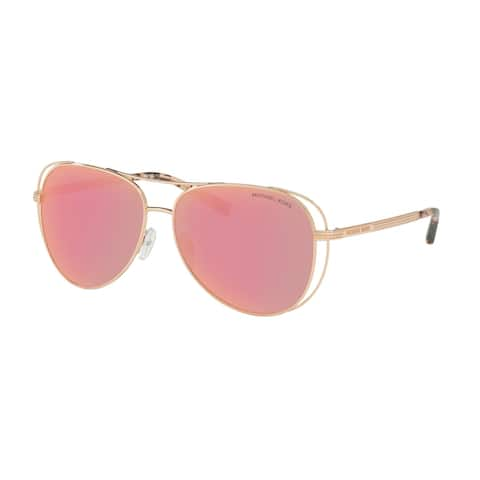 Michael Kors MK1024 1174N0 58 Shiny Rose Gold - Tone Woman Pilot Sunglasses