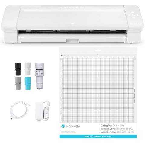 "Silhouette Cameo 4 Plus - 15 Inch Version - 15"" Cutting Mat, Power Cords, Built in Roll Feeder, Silhouette Studio Software"