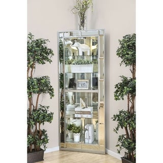 Link to Furniture of America Aloma Silver Contemporary 5-shelf Corner Curio Similar Items in Decorative Accessories