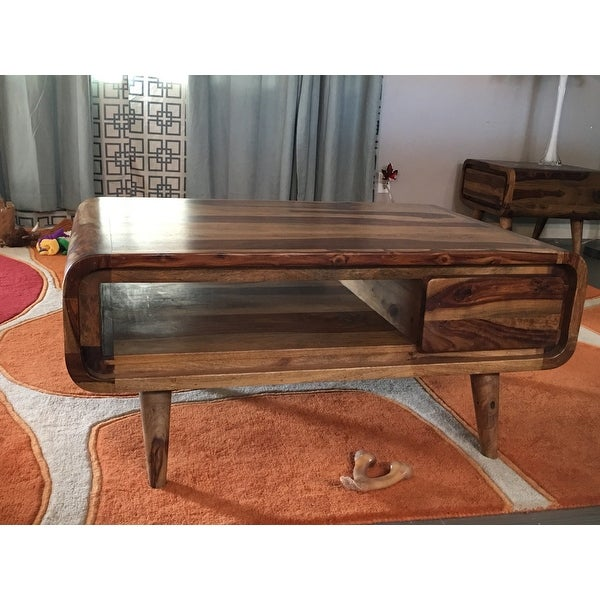 Wanderloot Oslo Solid Sheesham Coffee Table with Drawer India