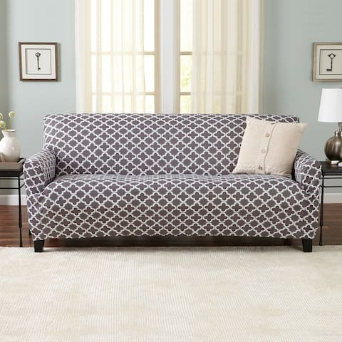 Great Bay Home Printed Twill Stretch Sofa Slipcover - Recliner