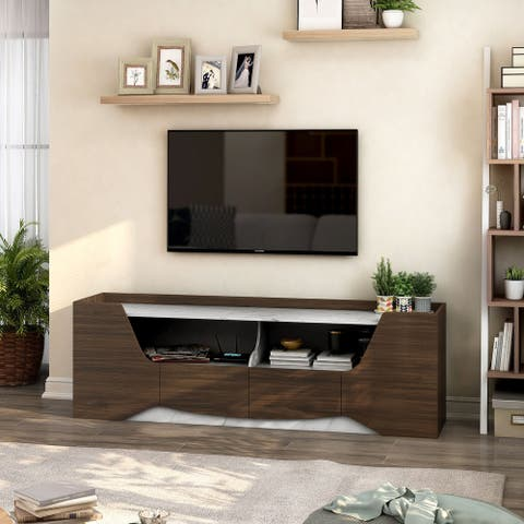 Furniture of America Uriel Contemporary Multi-storage Wenge TV Stand