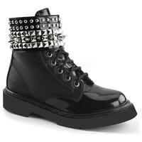 Demonia Women's Rival 106 Boot Black Vegan Leather/Black Patent