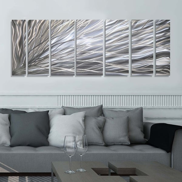 Statements2000 3D Metal Wall Art Abstract Silver Black Modern Decor by Jon Allen