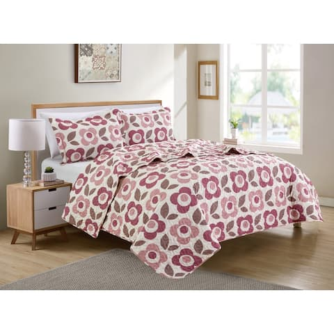 Pop Flower Quilt Set - Christopher Knight Collection