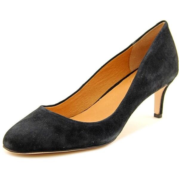 Corso Como Lisbeth Women Round Toe Suede Black Heels