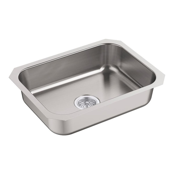 Sterling 24738 Mcallister 24 Single Basin 18 Gauge Undermount Kitchen Sink Stainless Steel
