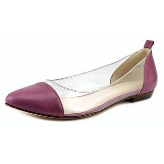 Lucille I'italien AMELIE Women Open-Toe Leather Purple Flats