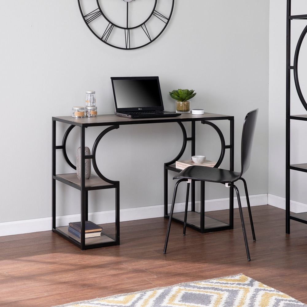 Carbon Loft Tynhill Transitional Brown Wood Desk