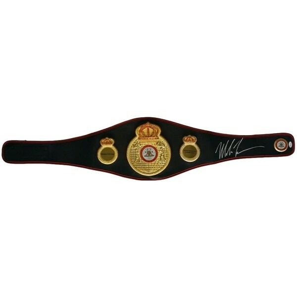 Mike Tyson Signed Full Size Black Heavyweight Championship Belt JSA