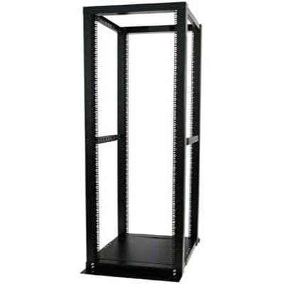 Startech 4Postrackbk 42U Adjustable 4 Post Open Server Equipment Rack Cabinet