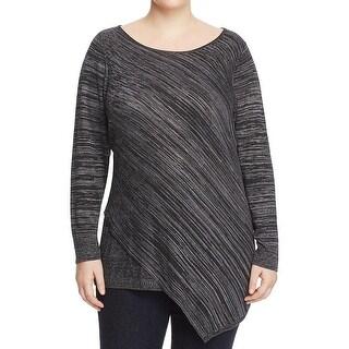 Love Scarlett Womens Plus Sweater Asymmetric Scoop Neck