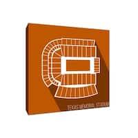 Texas - Texas Memorial Stadium - College Football Seating Map - 16x16 Canvas