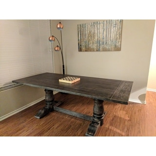 Muses Weathered Pepper Finish Rectangle Dining Table - Grey