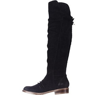 Kensie Womens Stella Over-The-Knee Boots Suede Buckle