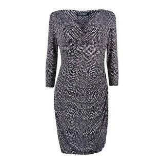 Lauren Ralph Lauren Women's Printed Jersey Dress - Black/Stone