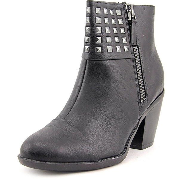 Rialto Mae Women Round Toe Synthetic Black Ankle Boot