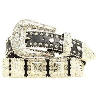 Nocona Western Belt Womens Crystal Rhinestones Gold Brown N3418401