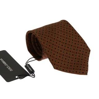 Dolce & Gabbana Brown Silk DG Pattern Tie - One size