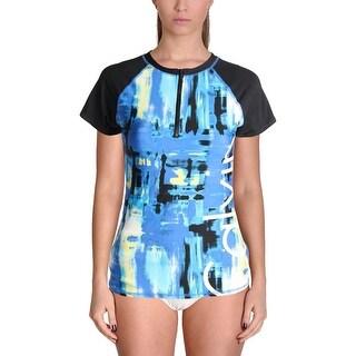 Calvin Klein Womens Printed Colorblock Rashguard (2 options available)