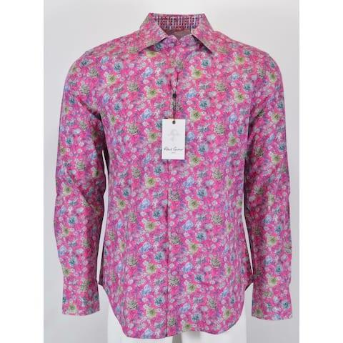 Robert Graham BOWMONT GARDENS Pink Floral Print Sports Shirt