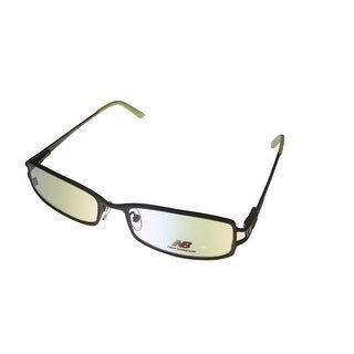 New Balance Unisex Opthalmic Eyeglass Metal Rectangle Frame #392 Brown / Green - Medium