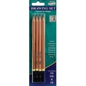 2H; Hb; B & 2B - Pro Art Drawing Pencils 4/Pkg